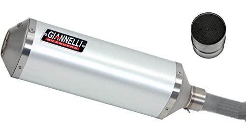giannelli tubo de escape homologado catalizado ipersport aluminio compatible con ktm duke 125 2011 2012 2013 2014 2015 2016 mototopgun 73784a6s + 70514ct