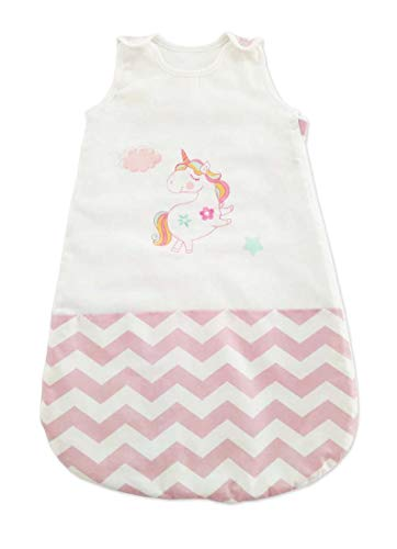 My Little World Nursery Baby Pink Blue Boys Girls Sleepbag Bird Dog 2.5 Tog Sleeping Bag (0-6mths, Pink Flying Unicorn)