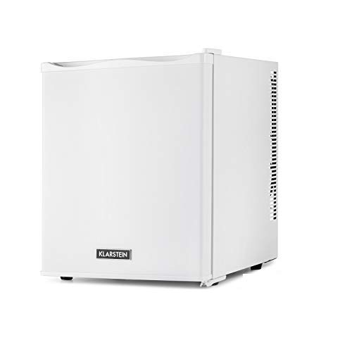 KLARSTEIN Happy Hour - Mini bar, Mini refrigérateur, Petit frigo, Mini frigo de chambre, Compression, Températures : 5-15 ° C, Compartiments de porte, Aucun bourdonnement, LED, 25L - Blanc