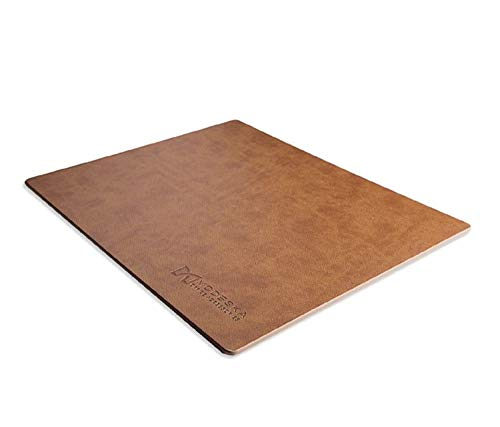 Modeska Mouse Pad with Premium PU Leather, Non-Slip Base Mousepad for Gaming, Apple, & PC. Perfect for Large or Small Mouse. 10.3x8.3 inches