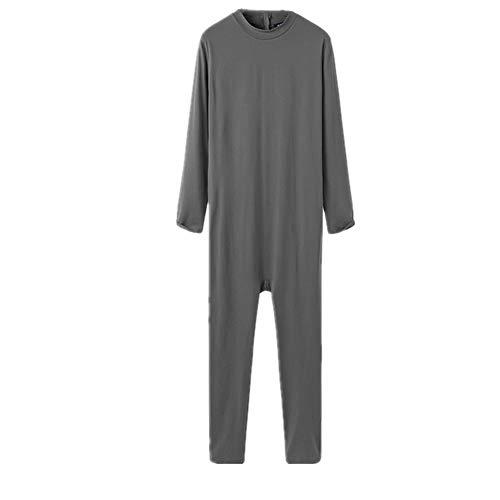 N\P Hals, Freizeit, Nachtwäsche, weich, einfarbig, Homewear, Fitness, Herren Gr. 5X-Large, grau