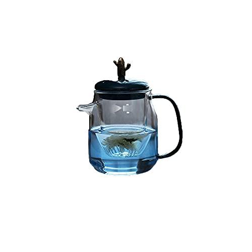 Zoo-yilch Teteras para Te 550 ml / 19 onzas Tetera de Cristal Resistente a Alta Temperatura, Juego de té de Kung Fu Chino Estilo Hogar Pequeño Sola Pote Filtro Tetera