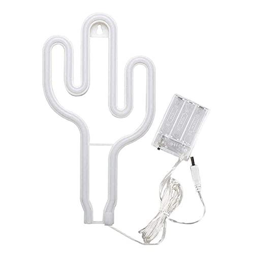 HMHMVM Luz de neón, lámpara LED de Cactus, Letrero en Forma de Cactus, Recargable por USB, decoración para Colgar en la Pared, Junto a la Cama, Sala de Estar, Fiesta, Bar, Boda