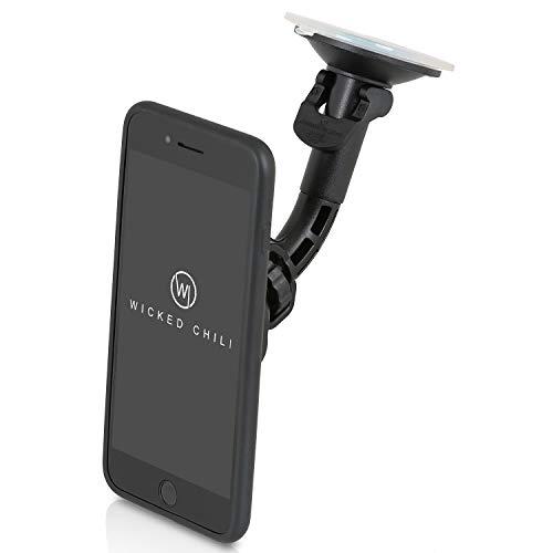 QuickMOUNT Autohalterung kompatible mit iPhone 6 Plus / 6S Plus KFZ Scheiben Halterung mit Saugnapf, Schutzhülle (iPhone 6+ / 6S+ Case + Car Mount), iPhone 6S+/6S Case + Scheiben Halterung