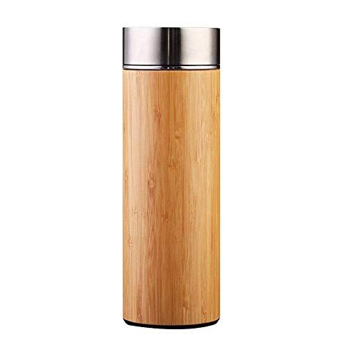 MHRCJ Wasserbecher - Bambusbecher Werbegeschenk Bambusschale Edelstahl Innenkern Doppelbecher