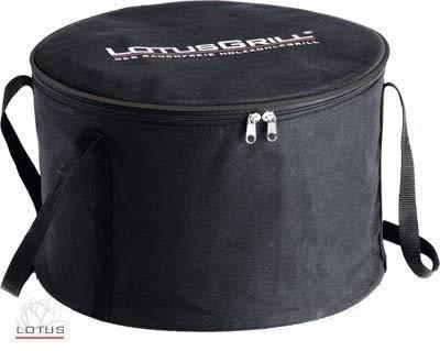 LotusGrill Tragetasche! Speziell entwickelt für den raucharmen Holzkohlegrill/Tischgrill! Transporttragetasche in Farbe Schwarz!