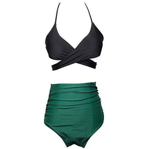 AidShunn Donna Summer Vintage A Vita Alta Costume da Bagno Bikini Set a Due Pezzi S