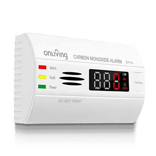 sebson Allarme Monossido di Carbonio EN 50291 Alimentato a Batteria Rivelatore di Gas con Display e indicatore di Temperatura