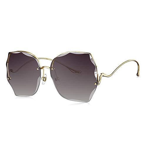 Gafas de Sol polarizadas para Hombres y Mujeres, Marcos poligonales, Lentes Anti-ultravioletas, Gafas al Aire Libre para Conducir y Pescar, púrpura, Oro, Color (Color : Purple)