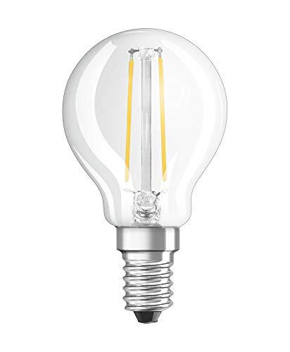 OSRAM Filament LED Lampe mit E14 Sockel, Tropfenform, Kaltweiss (4000K), 2,50 W, Ersatz für 25-W-Glühbirne, matt, LED Retrofit CLASSIC P