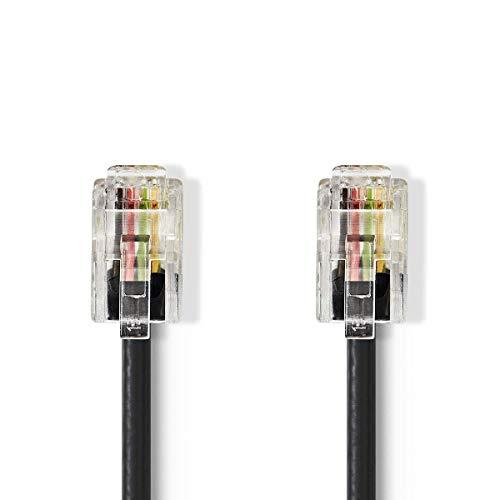 NEDIS Telekommunikationskabel | RJ10-Stecker - RJ10-Stecker | 2,0 m | Schwarz