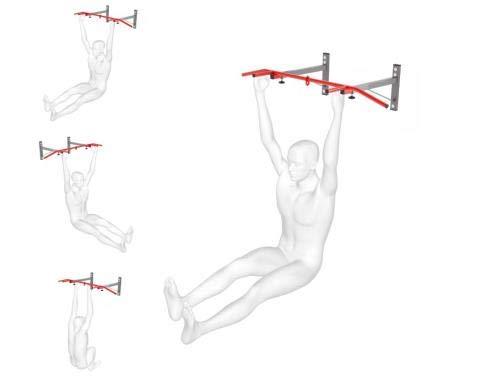 QLS - Sbarra per trazioni K-Sport, Montaggio a Parete, Fino a 150 kg