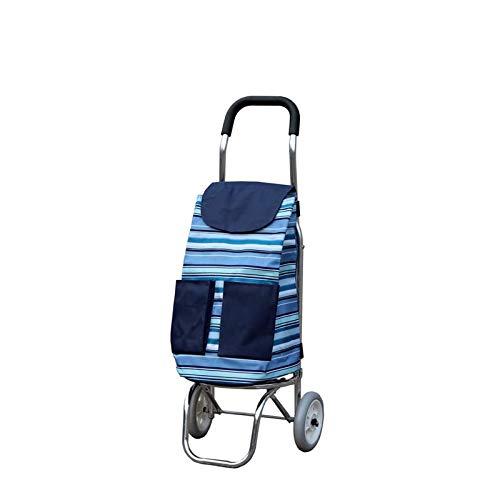 ZLHW Carro de la Compras de aleación de Aluminio Ultra Light Portátil Portátil Trolley Trolbige Sube El Edificio para Comprar la alimentación Trolley Small Cart