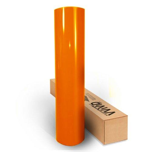 VViViD Orange High Gloss Realistic Paint-Like Microfinish Vinyl Wrap Roll XPO Air Release Technology...