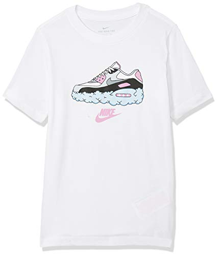 Nike Sportswear Air Max 90 Clouds Camicia, Blanco, XL Bambino