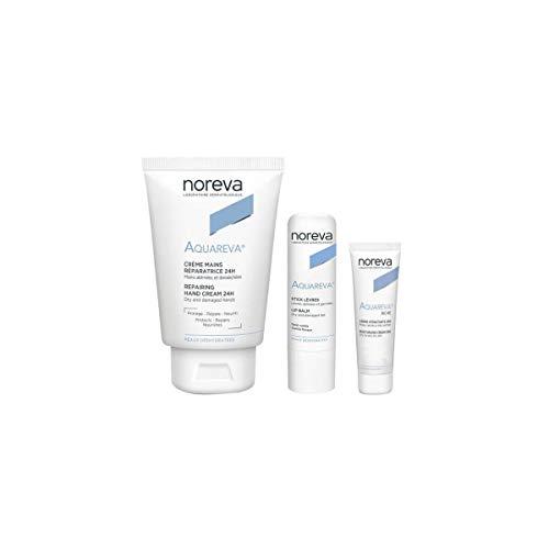 Noreva Pack Aquareva Handcreme 50 Ml + Lippenstift 4 G + Reichhaltige Gesichtscreme 3 Ml