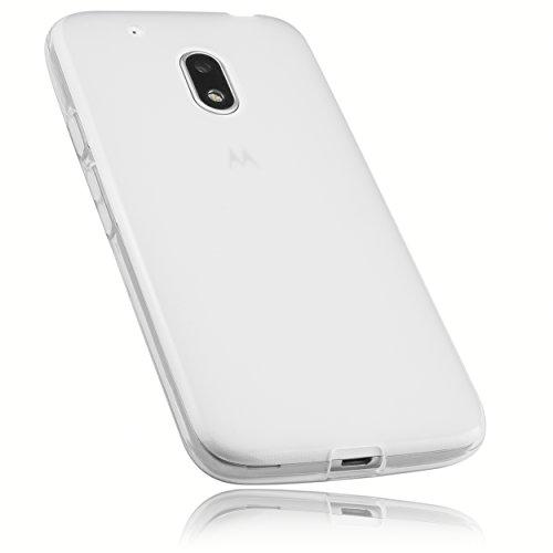 mumbi Hülle kompatibel mit Lenovo Moto G4 Play Handy Hülle Handyhülle, transparent weiss