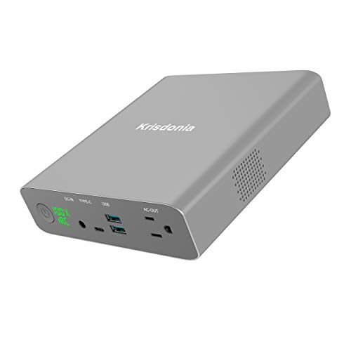 Krisdonia AC Power Bank 27000mAh 130W TSA-Approved Laptop Portable Charger & External Battery Pack for MacBook, Laptop and More