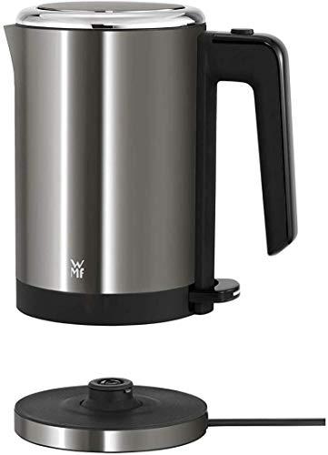 WMF Küchenminis Mini Reise-Wasserkocher Edelstahl 0,8l, elektrischer Wasserkocher mit Kalkfilter, 1800 W, kleiner Teekocher, edelstahl matt, graphit