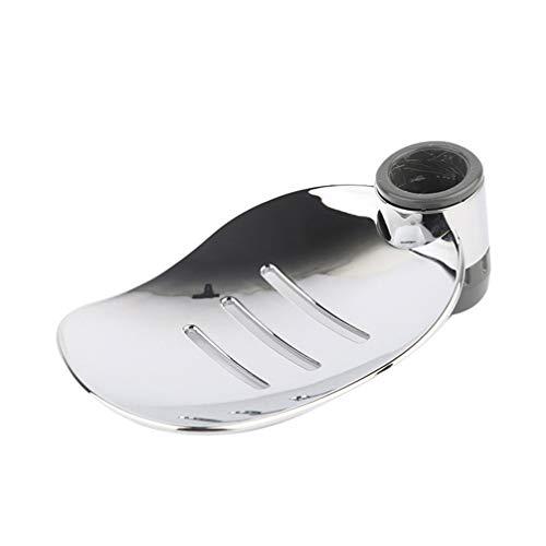 TOPBATHY Seifenschale Rund Verstellbare Seifenhalter Praktisches Dusche Badezimmer Zubehör für Duschstange Wandstange 2 Stück (Porendurchmesser 22mm)