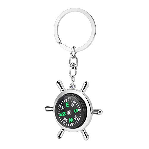 IKAAR Kompass Outdoor Taschenkompass Mini Kompass Schlüsselanhänger Wasserdichter Marschkompass mit Leuchtziffern für Camping Wandern Navigation