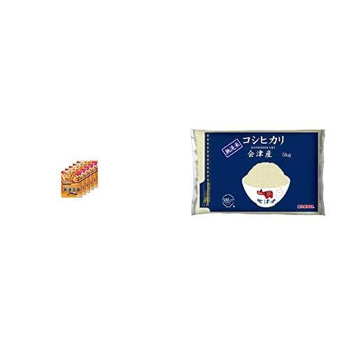 味の素 Cook Do (中華合わせ調味料) あらびき肉入り麻婆豆腐用 甘口 140g×5個 +  【精米】[Amazon限定ブランド] 580.com 会津産 無洗米 コシヒカリ 5kg 令和元年産