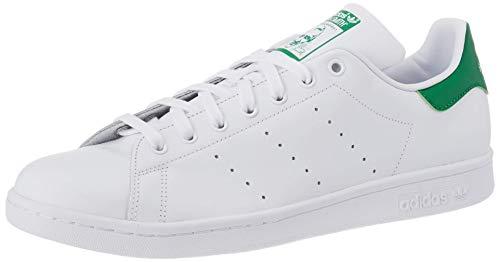 adidas Originals Stan Smith, Zapatillas de Deporte Unisex Adulto, Blanco (ftwr blanco / core blanco / verde), 45 1/3 EU