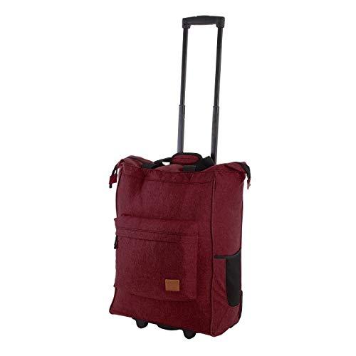 Rada ER/4 – großer Einkaufstrolley mit 35 Liter Volumen, Einkaufswagen, Handwagen, Einkaufstasche mit Rollen, Einkaufsroller, ausziehbarer Griff, robust und wasserabweisend (Bordeaux 2 Tone Cognac)