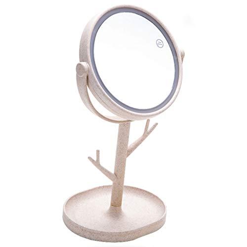 Miroirs de poche Miroir de Maquillage-LED Miroir de Maquillage avec la lumière dortoir Bureau Pansement Charge Fille étudiant beauté miroirs de Bureau avec lumière Haute définition Lampe de Table Lam