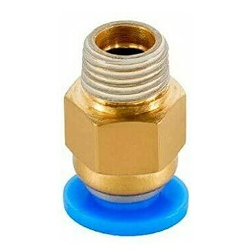 2 uds conectores neumáticos para piezas de impresoras 3D acoplador de ensambladora rápida tubería de 1,75 / 3mm PC4-M6 / PC4-01 / PC6-01 accesorios tubo de PTFE 2 / 4mm