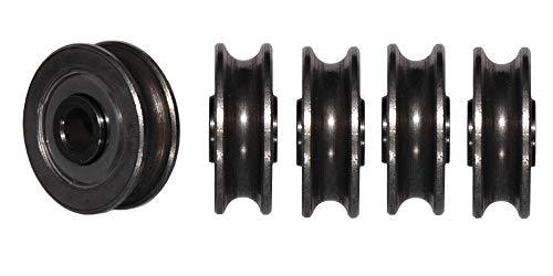 HBS 80/130 5 x Stahlseilrolle ø 80 mm mit Konuskugellager, schwarz
