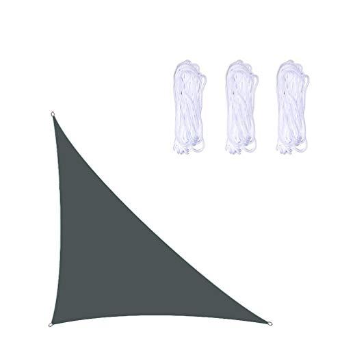 3x3x4,3m TriáNgulo RectáNgulo De De Toldo Vela,Impermeable Sun Shade, Anti-Uv Toldo, Perfecto Para JardíN Exterior BalcóN Terraza Piscina