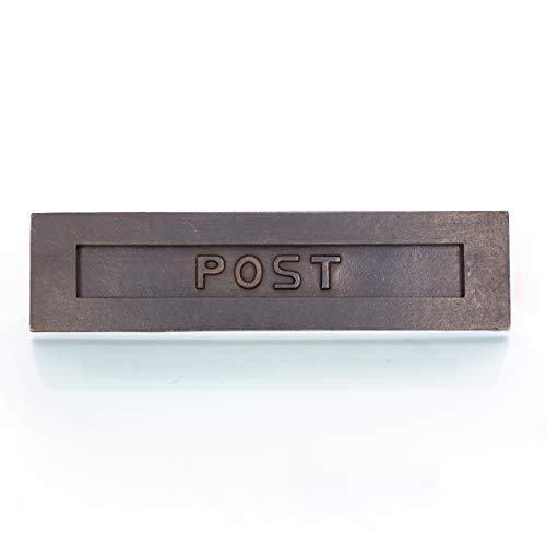 Antikas   Briefschlitz   aus Antik-Eisen   großer Posteinwurf   Briefkasten-Schlitz   Post