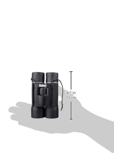 Product Image 1: Bushnell Powerview 10×25 Compact Folding Roof Prism Binocular (Black)