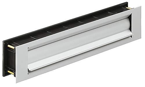 GedoTec®, brievenbusklep, warmte-isolatie, krantenklep voor huisdeuren & ingangsdeuren, inwerpklep, aluminium RVS-look, deurdikte 44-75 mm, bouwbeslag modern Silber eloxiert Silberfarben Eloxiert