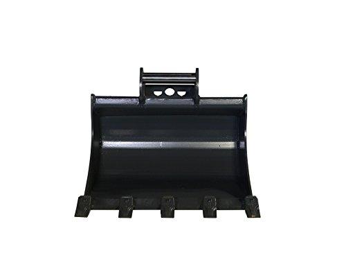 Vollhardox Terrablade XT- Tieflöffel 600mm breit bis 2.2t mit Schnellwechselaufnahme MS01 inkl. 5 geschweissten Zähnen, alle Verschleissteile aus Hardox / Baggerschaufel, Baggerlöffel