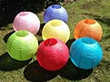 Charmed Paper Lanterns (8-Inch, Multicolor,...