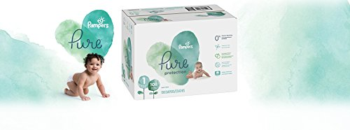 Diapers Newborn/Size 1 (8-14 lb), 108 Count - Pampers Pure Protection Disposable Baby Diapers, Hypoallergenic and Unscented Protection, Giant Pack (Old Version)