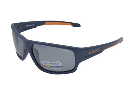 Gamswild WS4832 Sonnenbrille Sportbrille Skibrille Fahrradbrille Damen Herren Unisex   blau   schwarz   grün, Farbe: Blau