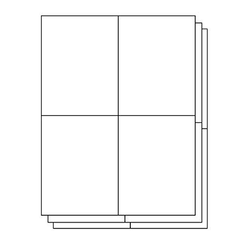 OfficeSmartLabels Rectangular 4-1/4 x 5-1/2 Shipping/Wine Bottle Labels for Laser & Inkjet Printers, 4.25 x 5.5 Inch, 4 per Sheet, White, 600 Labels, 150 Sheets