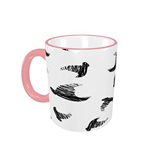 Taza de café Halloween Icons Ghost Tazas de café Especiales Tazas de cerámica con Asas para Bebidas Calientes - Cappuccino, Latte, Tea, Cocoa, Coffee Gifts 12 oz Yellow