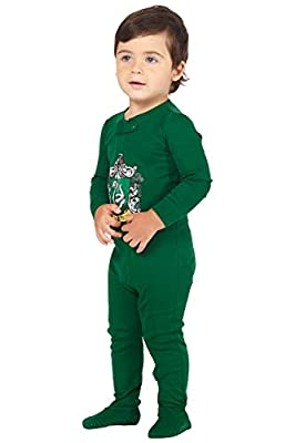 HARRY POTTER Intimo Baby Pajamas Set Footed Jammies Beanie Hogwarts House Slytherin 18 Month
