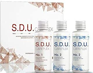 S.D.U. CAREPLEX Bond Connector Enhancer Set for hair dying, bleaching, rebonding, perming, reinforcing of elasticity, shine and detangling