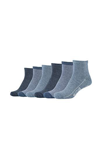 MUSTANG Damen Kurzsocken 6er Pack aus hochwertiger Bio-Baumwolle stone mix, 35-38