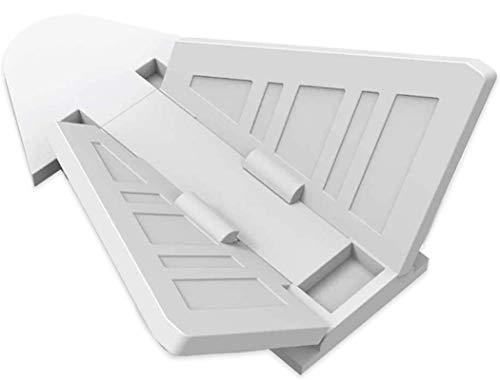 Naomo Cerraduras de Puerta Corredera para Bebé,Cerraduras de Seguridad con Adhesivo Fuerte 3M,Fácil de Operar 4 Piezas (4 Pack Blanco)