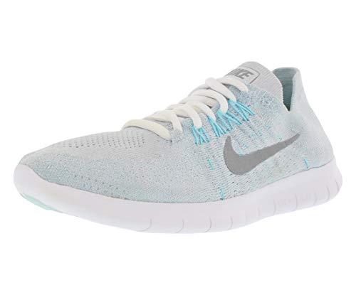 Nike Damen WMNS Free RN Flyknit 2017 Laufschuhe, Blau (Pure Platinum/Glacier Blue/Blue Fury/Metallic Silver 012), 42 EU