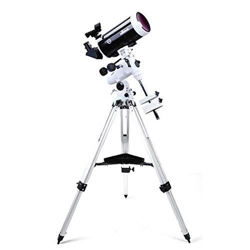 GGPUS Telescopio Refractor con trípode y Montura ecuatorial, telescopio portátil para Principiantes de astronomía, Alcance de Viaje, Longitud Focal 1500 mm, Aumento máximo 254X