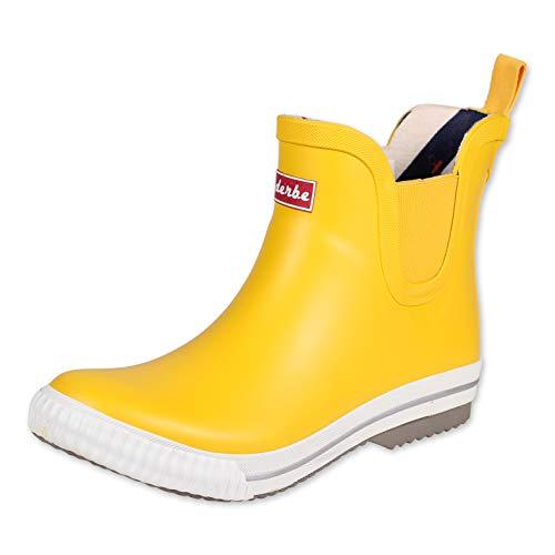derbe Wattpuuschen Unisex Erwachsene Gummistiefel Regenstiefel, Gelb (Gelb), 42 EU