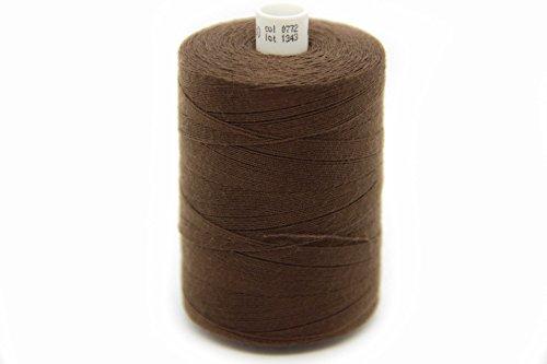 NTS Nähtechnik, filo da cucito per jeans, lunghezza 1000 m, in 30 colori a scelta, adatti per cucire e decorare tessuti pensanti, marrone cioccolato