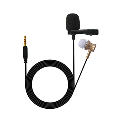 MOBZAK Commercial Mini Omnidirectional Lavalier Microphone inbuild Headphone Metal Shield Clip & Pure Copper Wire Use for Calls, Video Conferences, Monitoring & Online Classes :: Content Creation